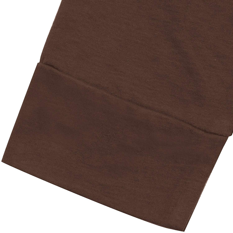 Men's Henley Cotton Casual Long Sleeve Lightweight Basic Thermal T-Shirts Short Half