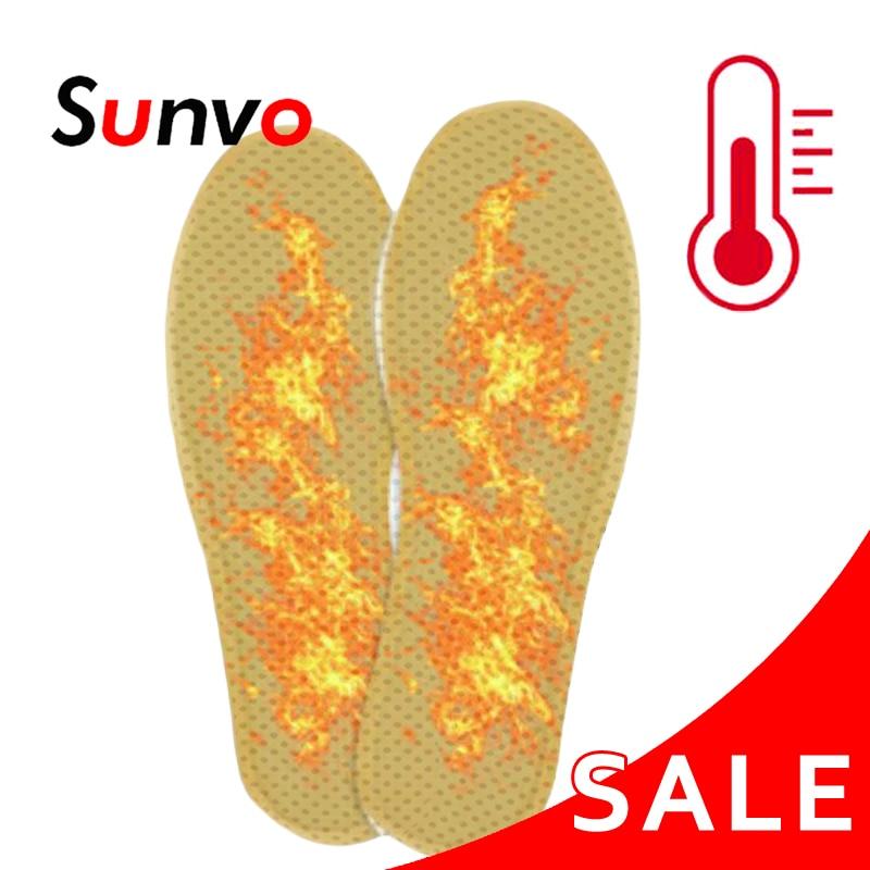 Sunvo Self-heating Insoles Winter Warm Heated Shoes Pads For Men Women Footwear Heating Reflexology Natural Tourmaline Insole