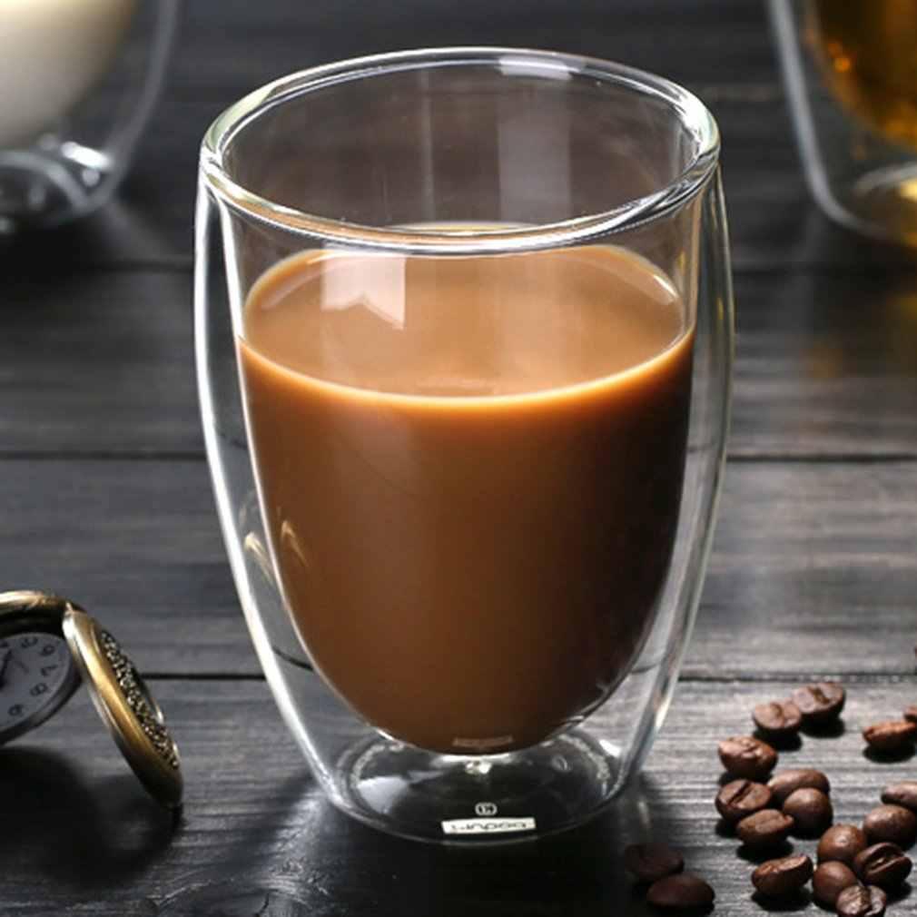 Tahan Panas Dinding Ganda Terisolasi Kaca Espresso Mug Latte Kopi Kacamata/Whisky/Cangkir Kopi/Teh Mug