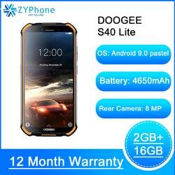 Doogee S40 Lite прочный мобильный телефон 2 Гб оперативной памяти, 16 Гб встроенной памяти, 4 ядра 5,5 дюймДисплей 4650 мА/ч, 8.0MP Face ID функцией отпечатков паль...