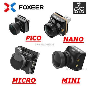 Foxeer Razer Mini Razer Micro Razer NANO 1200TVL PAL NTSC przełączalna kamera 4 3 16 9 FPV do aktualizacji dronów FPV tanie i dobre opinie Materiał kompozytowy Camera Blue 2 5mm PAL Pojazdów i zabawki zdalnie sterowane Wartość 2 Samoloty