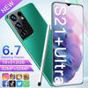 S21+Uitra 6.7Inch SmartPhone Global Version Galaxy 16+512G 6800Mah Lithium-ion Big Battery Android CellPhone 32MP+50MP Camera