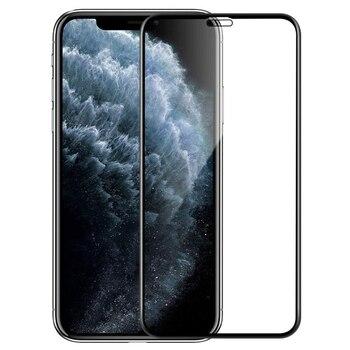 Перейти на Алиэкспресс и купить Полное покрытие из закаленного стекла для iPhone 11 Pro Max Защитная пленка для экрана Мягкий край для iPhone X XS Max XR 7 8 6 Plus