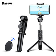 BASEUS Bluetooth Selfie Stick Tripod untuk iPhone 11 X XR X 8 Xiao Mi Mi Huawei Samsung Ponsel Mi ni Self Selfie Stick Monopod(China)