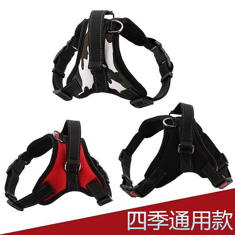 Dog's Straps Chest Suspender Strap Large Dog Hand Holding Rope Small Medium La-Teddy Golden Retriever Vest Lado Neck Ring