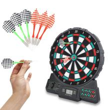14.6 Inch Electronic Dartboard Darts Game Set LCD Display Automatic Scoring Dart Board with Music and Sound Prompt  fun toy gift