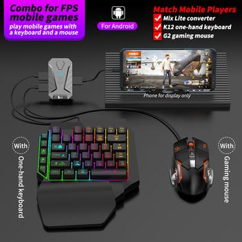 PUBG Gamepad Plug And Play połączenie przewodowe telefon komórkowy konwerter gier klawiatura mysz Adapter do androida tanie i dobre opinie SIANCS Brak CN (pochodzenie) Gamepady Mix Lite Converter