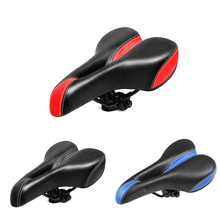 Comfortable Bicycle Seat Saddle Widen Mountain Bike Shock Absorption Soft High Elastic Cotton Hollow Cushion 27x16x13cm