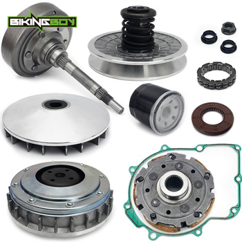 BIKINGBOY Primary Drive + Secondary Driven Clutch + Cover Housing + Pad Shoe + Sheave + Kits For Grizzly 660 2002-2008 Rhino 660