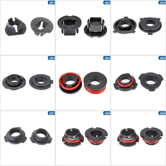 1 paar Auto LED Scheinwerfer Licht Lampe Birne Adapter Halter Basis Sockets Retainer Für H1 H3 H4 H7 H11 H13 9004 9005 9006 9007