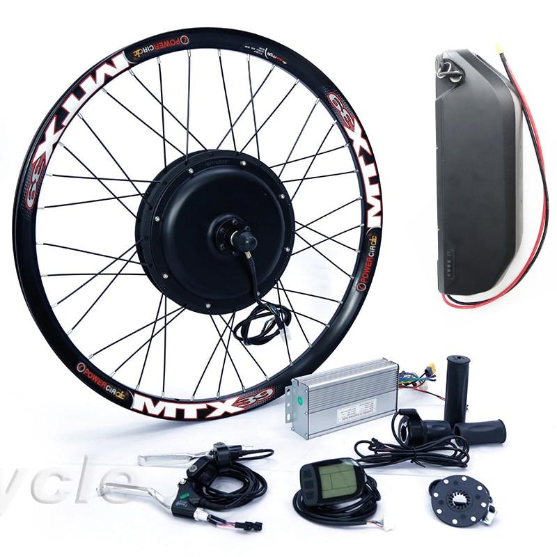 High Power E Bike Kit 52v 2000W Electric Bike Conversion Kit With 52V 17AH Lithium Battery Pack