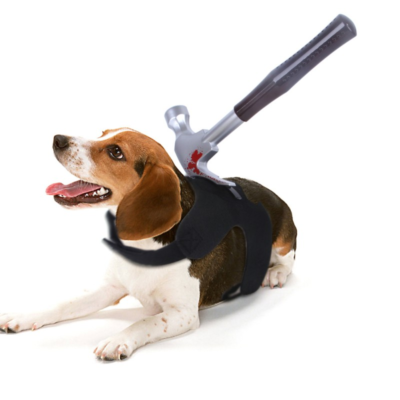 Novelty Halloween Dog Costumes With Wine bottle, Pipe tongs, Wrench, Hammer, Bayonet, Knife
