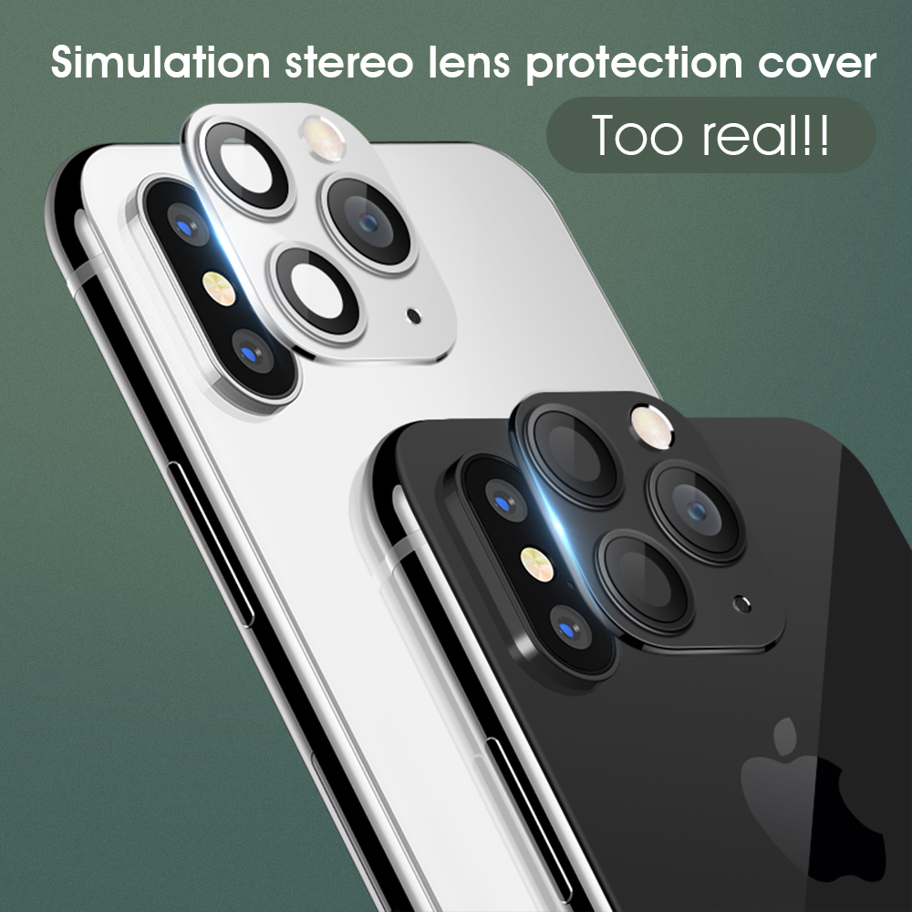Upgraded Aluminum Alloy Lens Seconds Change For iPhone X XS MAX Camera Protector Cover For iPhone 11 Pro Max Lens Cover image