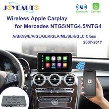 Joyeauto sem fio apple carplay para mercedes ntg5.0/4.5/4.0 a/b/c/e/s/glk/gla/glc/slk/ml classe android carro espelho ios jogo