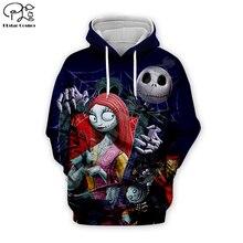 Pumpkin King Jack Skelling print Men 3d Hoodies skull Halloween Christmas Corpse Bride Sally Sweatshirt tshirt pullover women