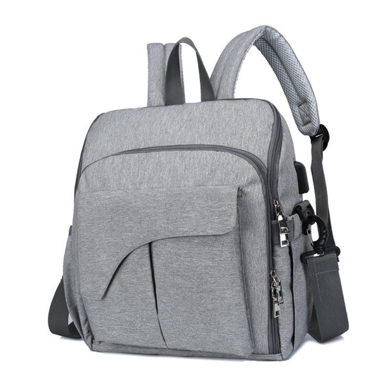 Portable Multifunctional Mom Backpack Diaper Changing Baby Chair Fixing Function Bag Handbag