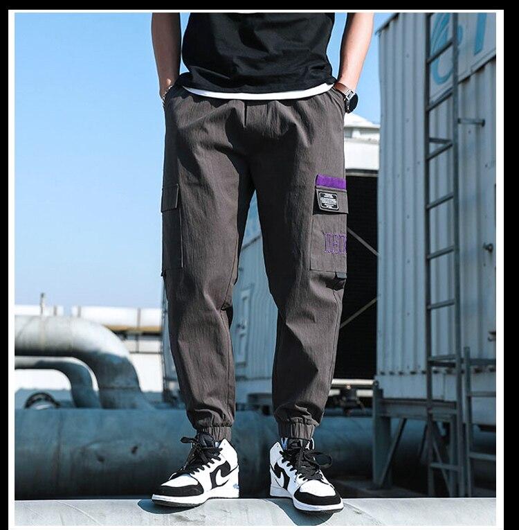 Mallas Con Varios Bolsillos Para Hombre Mono De Moda Moda Coreana Primavera Verano 2021 Pantalones Informales Aliexpress