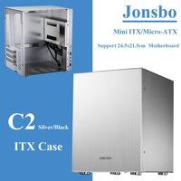 Jonsbo C2 корпус для пк Computer Case Desktop PC Chassis for Mini ITX microATX (24.5x21.5cm) 170*170mm/245*215mm Motherboard|Computer Cases & Towers|   -