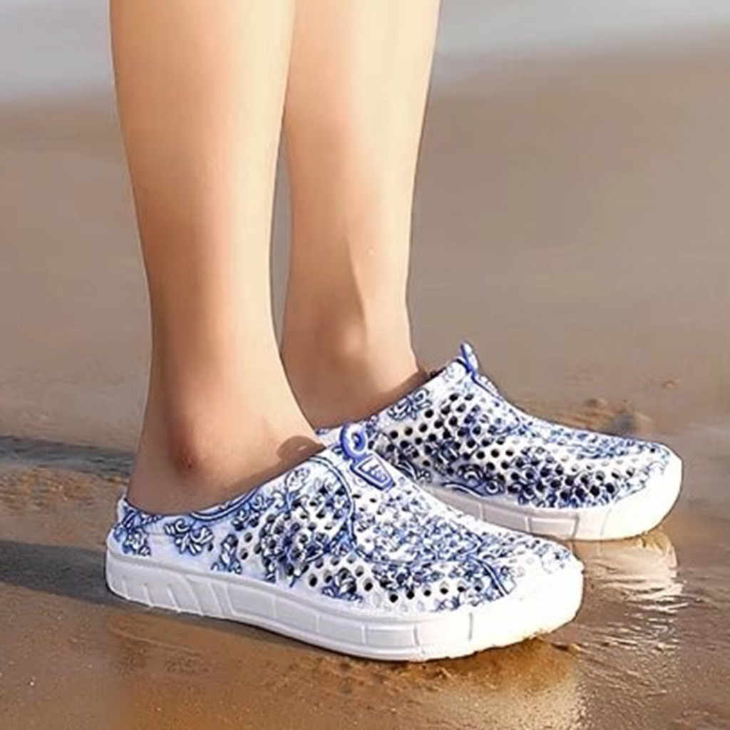 Youyedian Wanita Rumah Sandal Cetak Hollow Keluar Sepatu Wanita Sepatu House Pantai Zapatos De Mujer Тапочки Обувь Женская
