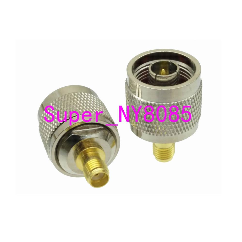 1pce Adapter N Male Plug To SMA Female Jack Straight RF COAXIAL