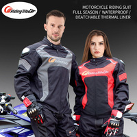 Men's Motorcycle Sets Jacket Pants Waterproof Summer Winter Men's Protective Suit Moto Rider Body Armor Safety Clothing Sets