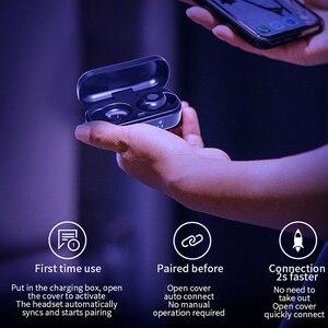 Image 3 - V8 TWS Bluetooth 5.0 kulaklık kablosuz kulaklıklar 8D Stereo spor kulaklık parmak izi dokunmatik LED dijital ekran HD çağrı kulaklık