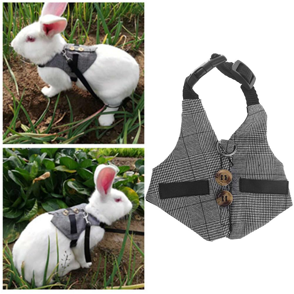 Hamster Rabbit Vest Harness Adjustable Rabbit Leash Lead Set Vest For Ferret Guinea Pig Bunny Kitten Small Animal Pet Strap
