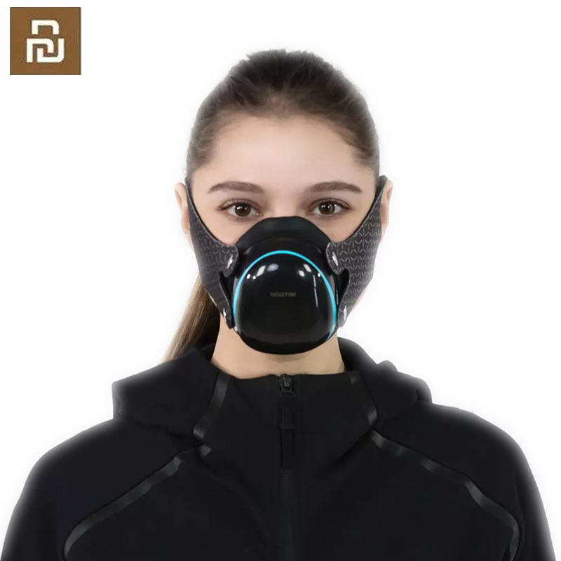 YouPin Hootim Anti-Haze Filter Face Mask 98.9% PM2.5 Sterilizing Provides Active Air Supply Electric Mouth Face Mask For XiaoMI