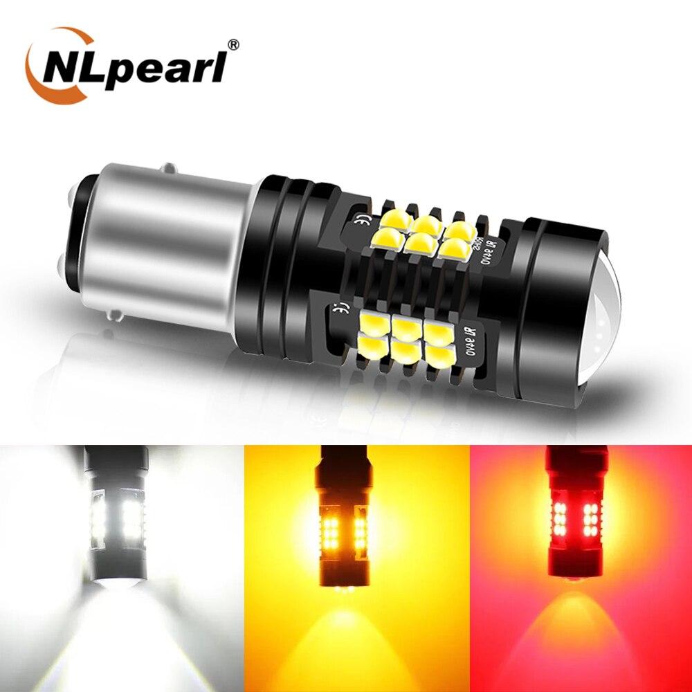 NLpearl 1x сигнальная лампа Bay15d 1157 светодиодный P21 5W супер яркий 3030SMD P21W 1156 светодиодный BA15S BAU15S PY21W автомобилей сигнала поворота светильник 12V