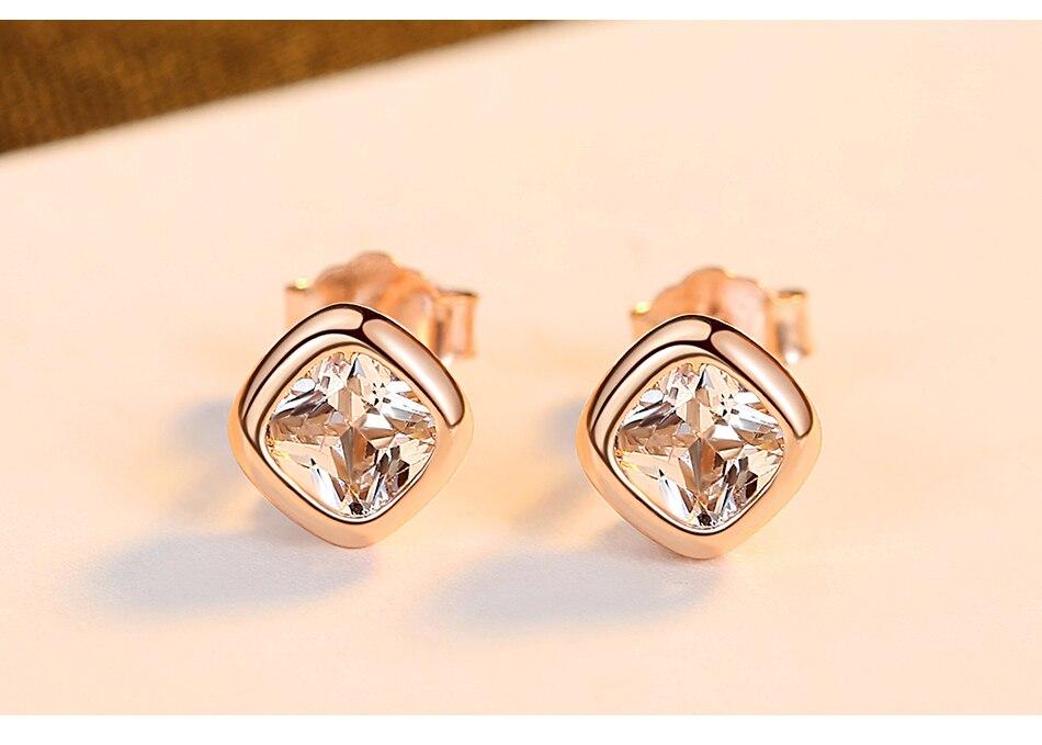 新品详情页_03 - Gem &amp, Time Minimaliste, 925 En Argent Sterling, Cubique Zircon Boucles D'oreilles,