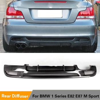 Carbon Fiber / FRP Car Rear Bumper Lip Spoiler Diffuser for BMW E82 E88 M Sport 2 Door Only 07-13 Convertible Non Hatchback image