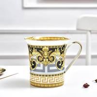 Retro Art Bone China High Quality Coffee Cups Vintage Ceramic Elegant Tea Cup Luxury Gifts with Black Gift Box YC 5267