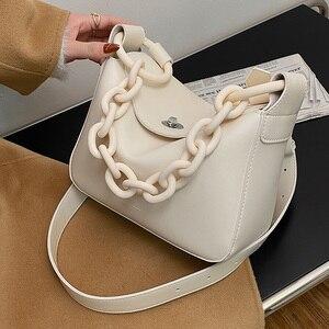 Винтажная сумка для подмышек на цепочке, модная новинка 2021, Высококачественная дизайнерская женская сумка из искусственной кожи, вместител...