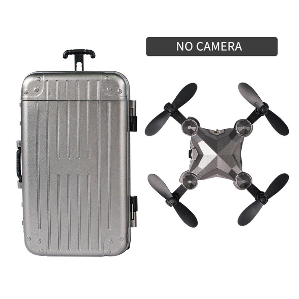 Luggage mini drone folding aerial photography remote control aircraft four-axis aircraft With Camera
