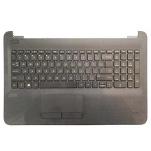 Laptop Keyboard Palmrest Upper-Cover US for HP Tpn-c125/Tpn-c126/Hq-tre with Black Touchpad