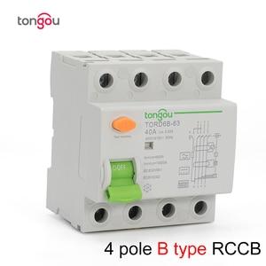 Image 1 - 4P 63 а Тип B 10KA RCCB RCD 230 В 400 в 30 мА автоматический размыкатель остаточного тока
