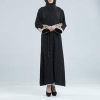 Women Dubai Moroccan Kaftan Long Dress Abaya Jilbab Islamic Arabian Clothing