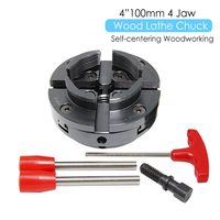 4 Inch Wood Lathe Chuck 100mm 4 Jaw Self Centering Woodworking Machine Turning Tool Accessories for DIYers Hobbies
