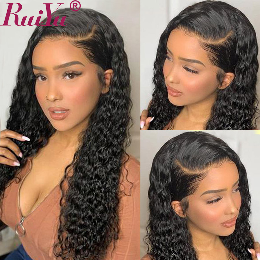 Glueless 13x6 Lace Front Human Hair Wigs Deep Curly 360 Lace Frontal Wig PrePlucked With Baby Hair RUIYU Hair Wig Remy Brazilian