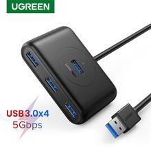 UGREEN USB Hub 4-Port USB 3 0 High-Speed USB Splitter dla dysków twardych pamięć USB klawiatura z myszką przedłużenie adaptera USB 3 0 Hub tanie tanio Brak 100 CM CR113
