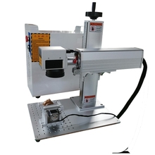 20W 30W raycus Fiber laser marking machine price for flat and round materials with rotary axis metal engraving