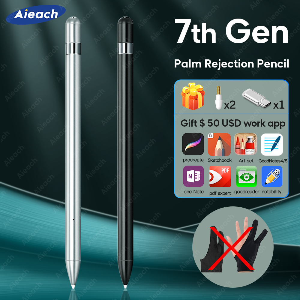 For Apple Pencil 2 1 IPad Pen Stylus For IPad 7th Gen 6th /pro 12.9 11 2020 2018 /Air 3 /Mini 5 With Palm Rejection Pen For 애플펜슬