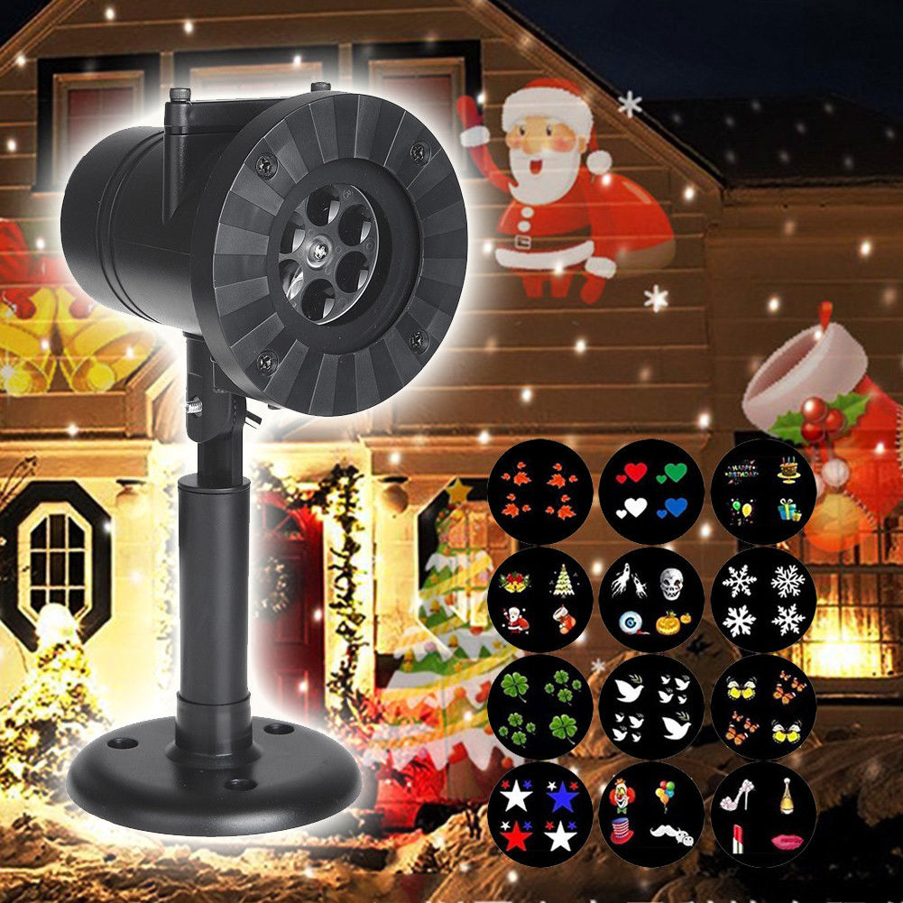 Christmas Halloween Snowflake Laser Projector Outdoor Garden Stage Effect Light Fairy  Waterproof Park Decorative Lamp|Stage Lighting Effect|   - AliExpress
