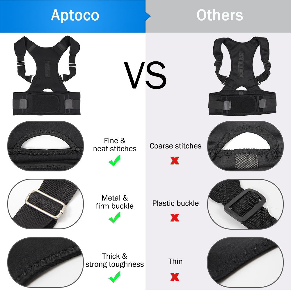 Aptoco Magnetic Therapy Posture Corrector Brace Shoulder Back Support Belt for Braces & Supports Belt Shoulder Posture US Stock 4