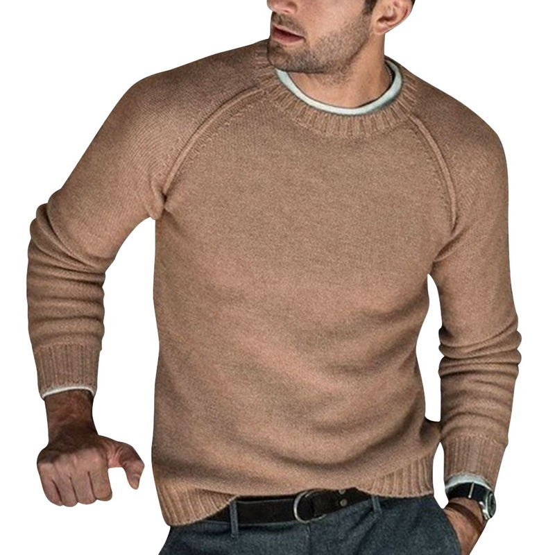 Mens Fashion Autumn Winter Warm Wool Knitted Pullovers Male Long Sleeve Solid Color Soft Slim Fit Casual Sweaters 2019 New
