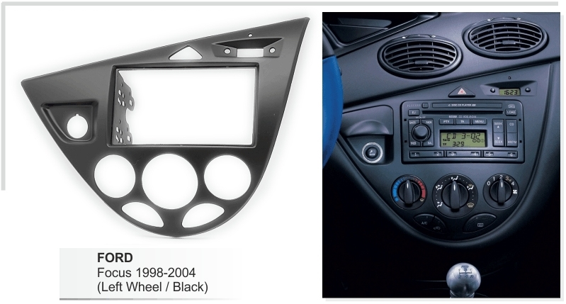 Ford Focus MK1 L.H.D Double Din Car Stereo Fascia /& Steering Wheel Kit CTKFD58L