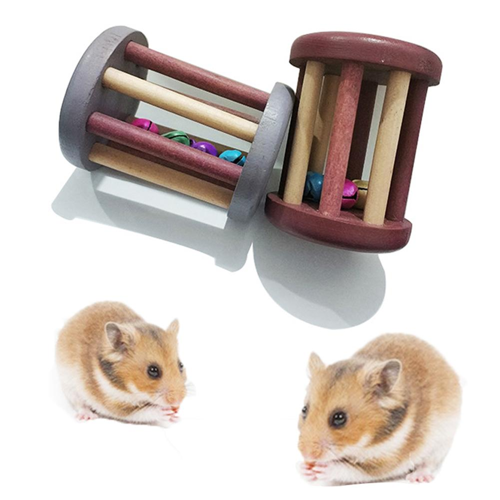 Cute Mini Wooden Dumbbell Chew Toy For Hamster Rat Rabbit Parrot Pet Supply