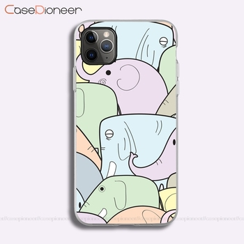 Endearing Elephants iPhone 11 Pro Max XR XS Max X 8 Plus 5 6 6S 7 Plus SE 2020 Soft TPU Case For image
