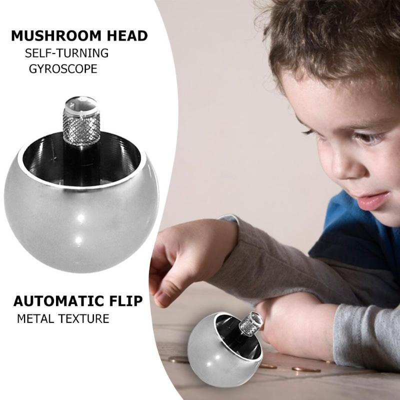 Metal Flip Over Top Gyro Spinning Top Toys Kids Educational Toy Gifts BEST