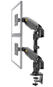 "NB H160 Gas Spring Desktop 17""-27"" Dual Monitor Holder Arm Monitor Mount Bracket Load"